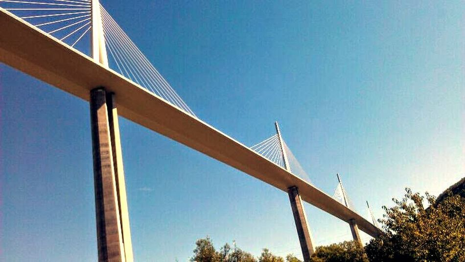 Bridge Day No People Tall Low Angle View Architecture Bridgeview Outdoors Cablestayedbridge Blue Sky Sun France My EyeEm Collection