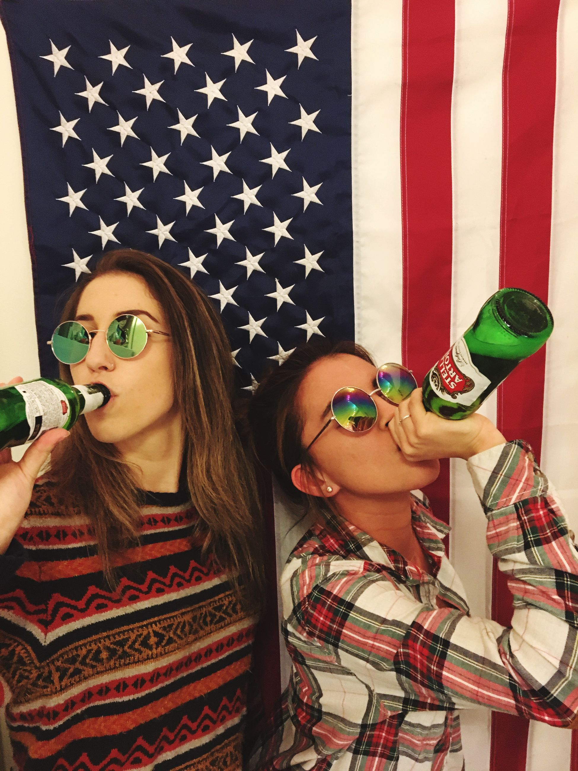 patriotism, holiday - event, flag, young adult, celebration, cultures, beautiful people, young women, females, christmas, portrait, celebration event, party - social event, people, women, only women, human body part, adult, indoors, adults only, day