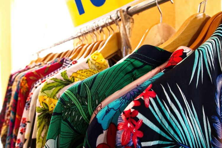 Choice of fashion clothes of different colors on wooden hangers Clothing Choice Multi Colored Coathanger Retail  Variation Store Hanging Shopping Fashion Clothes Rack Sale In A Row Business Indoors  Large Group Of Objects No People Rack Textile Small Business Consumerism Retail Display Scarf