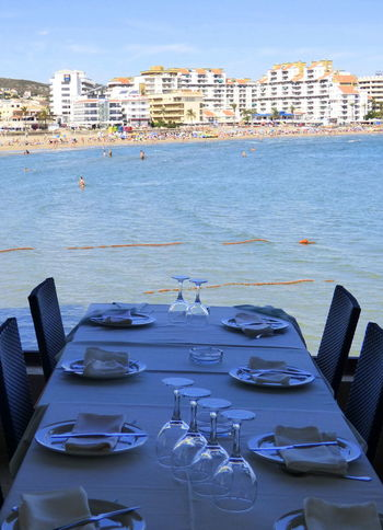 Beach Photography Comunidad Valenciana Peñíscola Reataurant Sea Tourism Tranquil Scene Tranquility Water