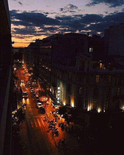 Sunset Night Outdoors Illuminated Sky Thessaloniki Walks Cityscape Cloud - Sky Architecture Canon700dphotography Thessaloniki Greece