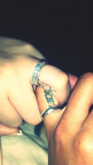 Ringed Up And Tatted Up! Haha Its Official Baby @breestahh