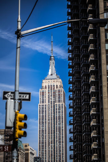 Empire State Building Against Blue Sky