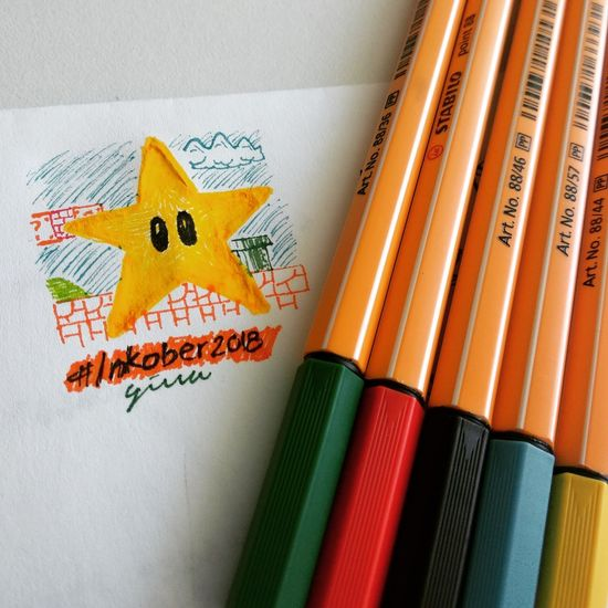 Star Drawing Inktober Multi Colored Paper Painted Image Art And Craft