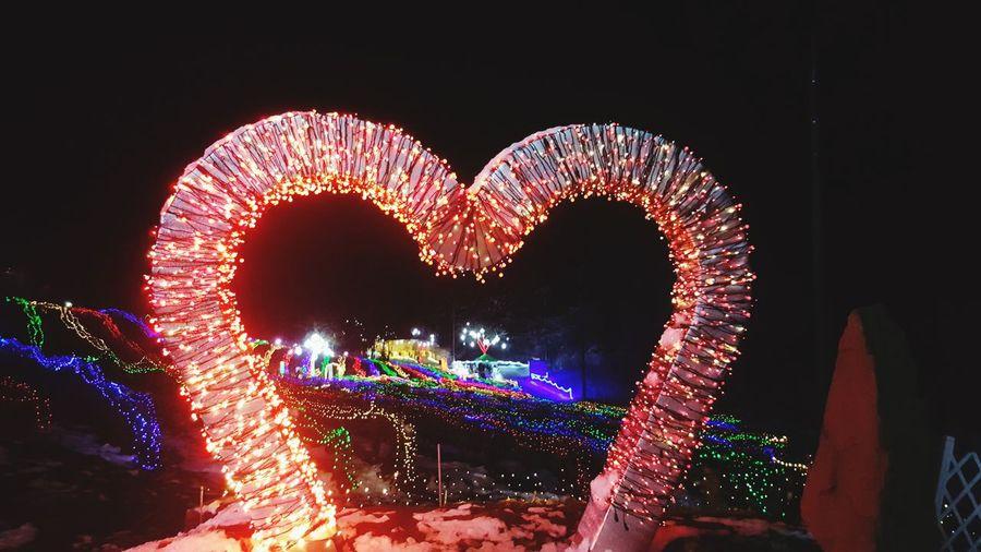 빛축제 하트 야경 환상