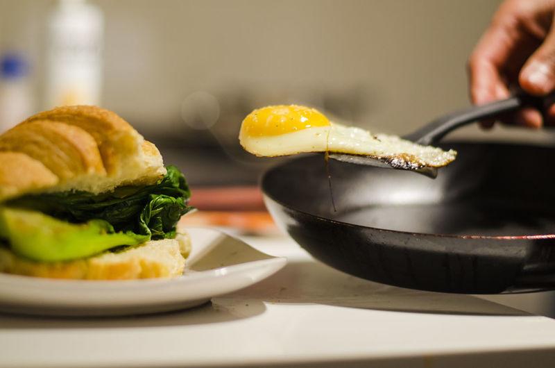 Egg, Croissant,
