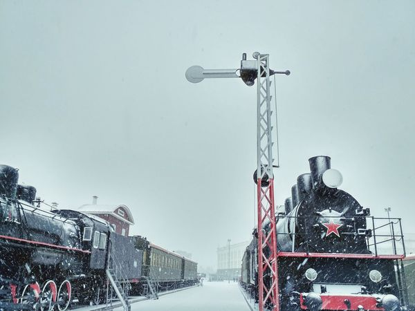 Snow Winter Outdoors Retro Design Soviet Era Soviet Star Retro Transport Retro Train Oldstyle Soviet Army Retro Transportation Vehicle Snowflakes Transportation Snowfalling Train Transport Train - Vehicle Snowing Locomotiva Locomotive Locomotive Train Locomotive à Vapeur паровоз Локомотив Shades Of Winter