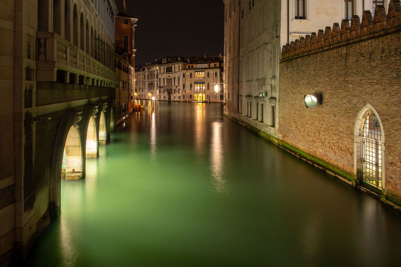 Venice Italy Venezia Travel Destinations Travel City Cityscape Architecture Built Structure Water Canal Arch Night Illuminated No People Vacations