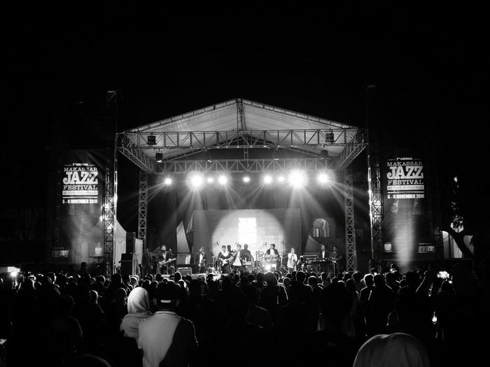MakassarJazz Festival 2016 Music Popular Music Concert Performance Stage - Performance Space Large Group Of People Audience Music Festival Musician Stage Light People Concert Jazz Festival Jazz
