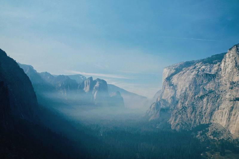 Fresh mountain air at yosemite, california