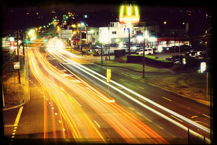 Light Trails Night Night Photography A6000
