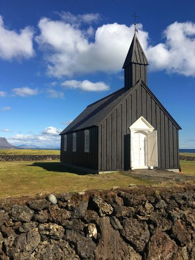 Wooden Architecture Church Chapel Iceland Iceland216 Blue Sky