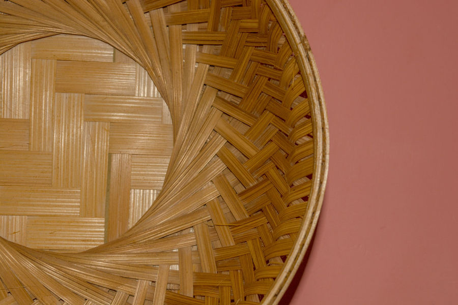 Crafted Beauty Pattern, Texture, Shape And Form Bamboo Bamboo - Material Basket Brown Close-up Craft Day Handicraft Indoors  No People Pattern Wood - Material