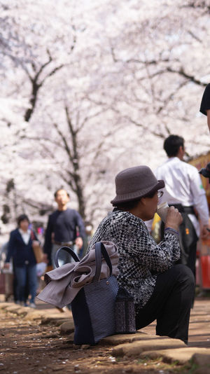 Leisure time Bokeh Photography Capture The Moment Crowd Day Enjoying Life Festival Festival Season Hanami Leisure Activity People Sakura Spring Tree Women 花見