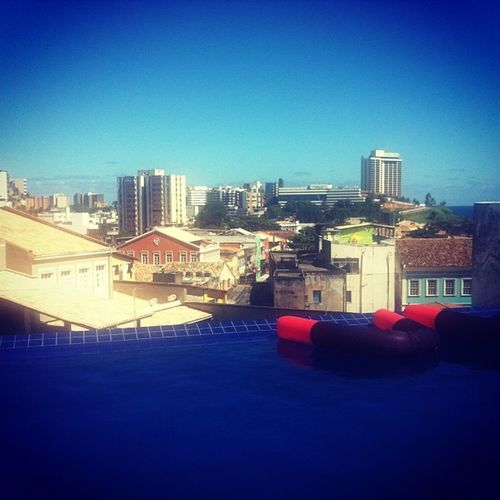 My view from the rooftop pool @fdesignhostel Salvador Maninbrazil @hostelling Bahia Worldcup brazil