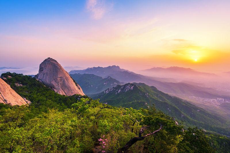 Bukhansan Mountian Seoul Korea Bukhansan Mountain Korea Nature Seoul Bukhansan Bukhansan National Park Landscape Mountain