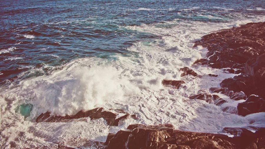 Nostalgic for better weather! Sea Wave Nature Water No People Beauty In Nature Beach Outdoors Horizon Over Water Day Power In Nature