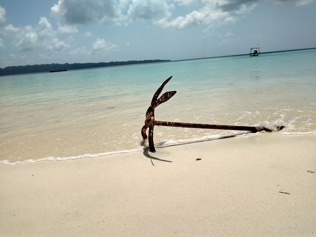 Andaman & Nicobar Islands Havelock Islands Anchor Beach Sea Sand Water Sky Horizon Over Water Cloud - Sky Nature Day Tranquility Outdoors No People Beauty In Nature UnderSea Ocean Photography Boat& Water Sky And Trees Background Photography Abstract Photography No Edit, No Filter, Just Photography EyeEm Best Shots Eyemgallery