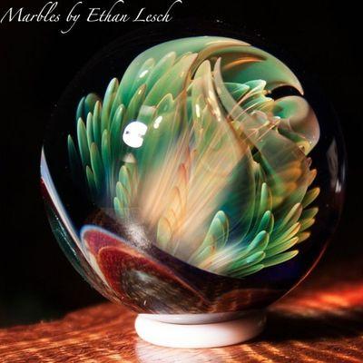 Marble Boromarble BORo Handmade headyart headymarbles glassmarble glass glassblowing mib headyglass ventura 805 ethanlesch
