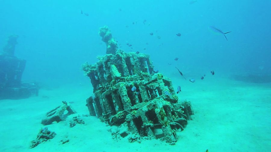 Metal structure in sea