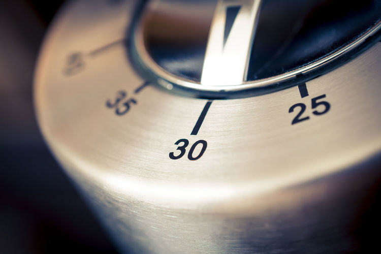 30 Minutes - Macro Of An Analog Chrome Kitchen Timer With Dark Background 2⃣5⃣ 30 35 Countdown Reflection Aluminum Black Chrome Counting Down Digital Art Egg Timer Hours Kitchen Metal Metallic Minutes Number Seconds Silver  Thirty Thirty-five Time Timer Twenty-five