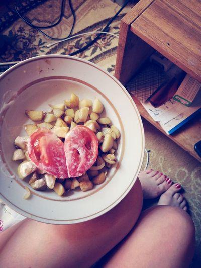 Еда сердце картошка ноги