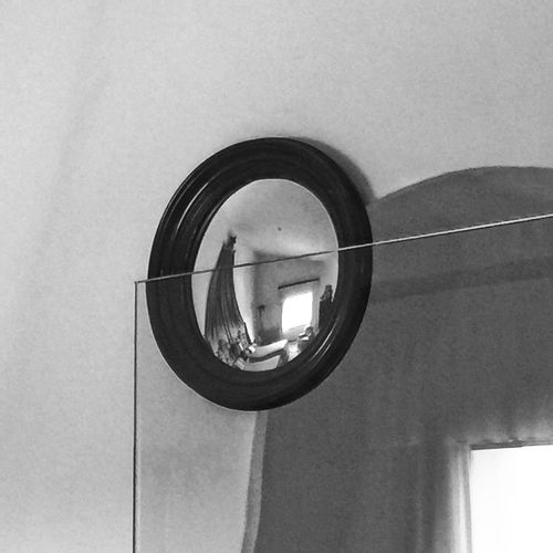 Dali's bedroom eye Mirror Reflection Mirror Bnw_reflections_in_mirrors Bnw_friday_eyeemchallenge Circle Day Geometric Shape Built Structure Shape Architecture No People Low Angle View Design
