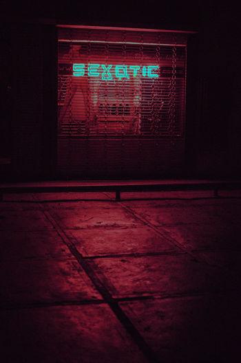 Red Illuminated No People Sport Backgrounds Textured  Neon Indoors  Technology Pixelated Caracas, Venezuela