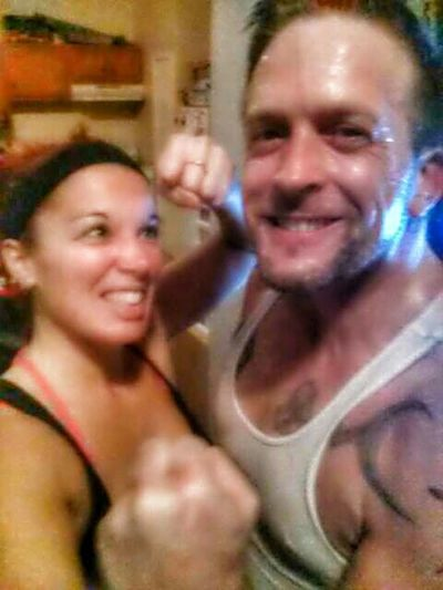 Triples done for the night, mainly all HIIT work. T25 Beta upper focus, then Turbofire abs 10 then right into Insanity Workout Max 30 Friday Fight yeah think my other half is gonna fight me after! lol Fitfam FitnessFreak