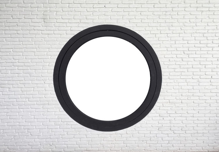 Brick Wall Bricks Circular ELLIPSE Hole In The Wall Textures And Surfaces Wall White Background