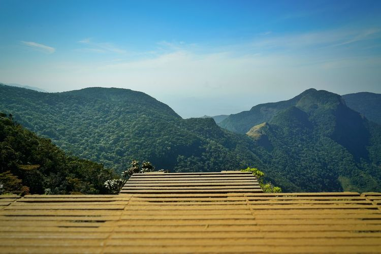 Mountain Sky Scenics - Nature Beauty In Nature Staircase No People Nature Tranquil Scene Cloud - Sky Tranquility Day Architecture Tree Plant Steps And Staircases Environment Mountain Range Non-urban Scene Idyllic Built Structure Outdoors