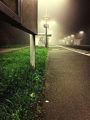 Foggy Fog Railwaystation Urbangeometry