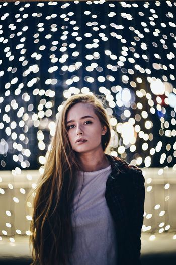 Helios Nikonphotography Nikon Nikon D800 Night Illuminated Looking At Camera Young Women Front View Portrait Lifestyles Russia Long Hair Vscocam Streetphotography Summer Street Portrait Photography Nikonphotographer гелиос40 Walking Khabarovsk Light And Shadow Гелиос