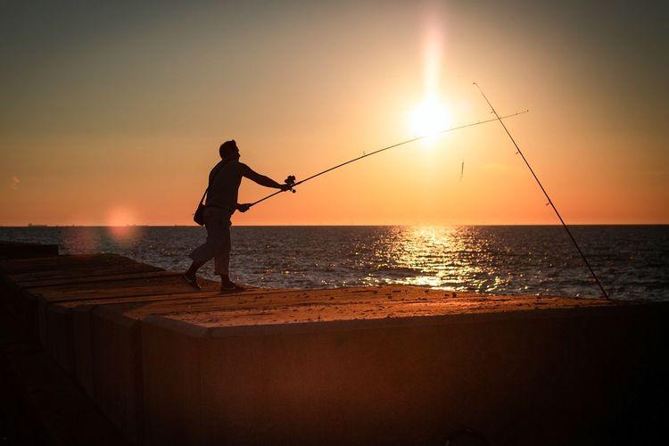 Fishing at