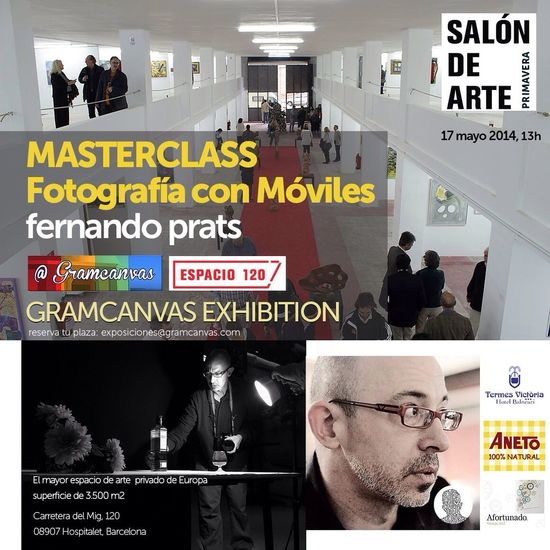 This Saturday, 13hs: free 'Mobile Photography masterclass' + @gramcanvas Exhibition at #Espacio120. Join us to start celebrating Instagram's Day! #catalunyawwim9 • With the support of @termesvictoria, #CaldosAneto & @vinoafortunado • We'll also giveaway one box of 47 Polaroids, courtesy of @paper_lover, to the best photo shot & published during @fernandoprats' masterclass (the winner'll choose his/her photos). Book your place with an e-mail to exposiciones @ gramcanvas.com Mobile Love Youmobile Barcelona Igersbcn