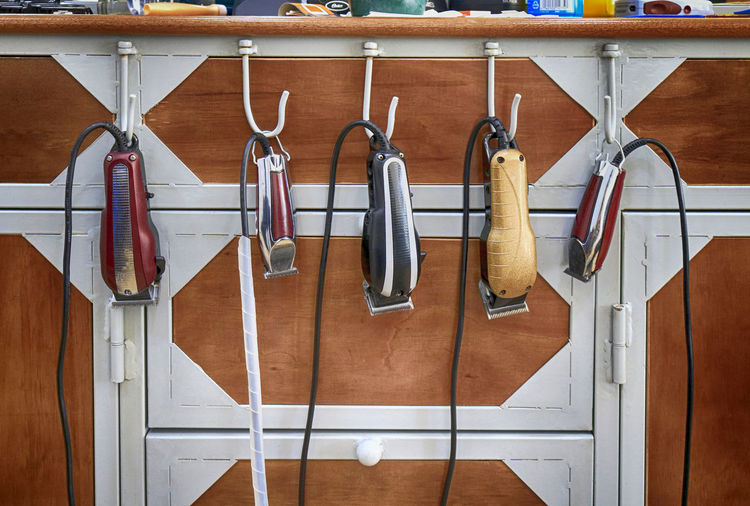 At the barber shop Barbershop Brown Close-up Hair Clippers Haircut Hairdressing Indoors  No People Vintage Wood - Material