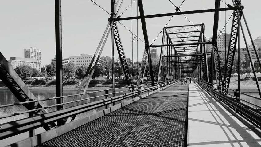 Walnutstbridge Bridges Blackandwhite Photography Bridge View EyeEm Best Shots - Black + White Harrisburg, Pa Harrisburg Followme Black And White Creative Light And Shadow