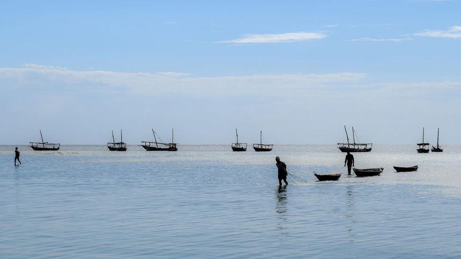 Day Men Nautical Vessel Real People Sailboat Sea Sky Water EyeEmNewHere