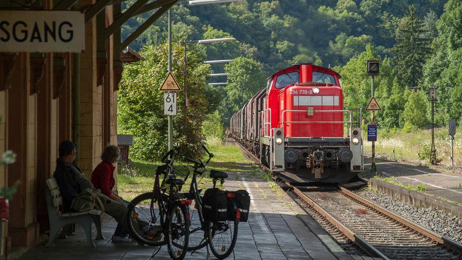 Bahnhof Balduinstein Bycicles Eisenbahn Fahrräder Lahn Railway Railway Station