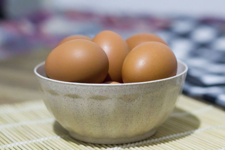 Bowl Close-up Day Egg Focus On Foreground Food Food And Drink Fragility Freshness Healthy Eating Indoors  No People Ready-to-eat Table