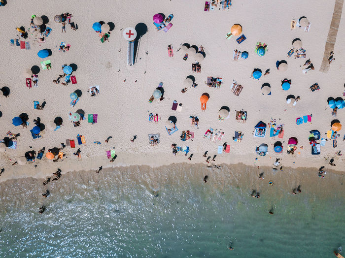 Crowd Large Group Of People Group Of People Multi Colored Real People Leisure Activity Beach Day Architecture Women Land Water Nature Men High Angle View Adventure Sport Lifestyles Enjoyment Outdoors