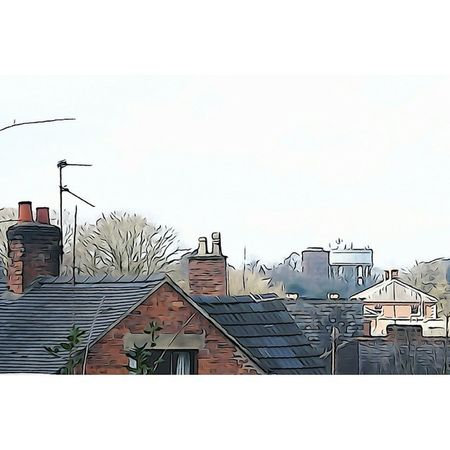 Across town: Capturingbritain_rural Congleton Cheshirelife Upnorth in_camera outofthebox illustration rooftop britains_talent watertower architecturelovers