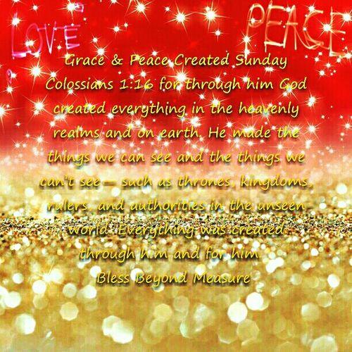 Grace & Peace Created Sunday