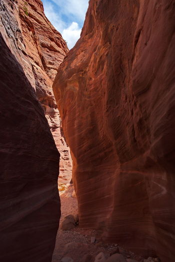 Rock formations slot canyon