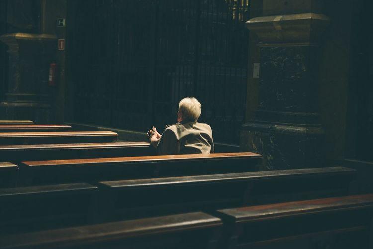 Praying at Montserrat Montserrat People Streetphotography Church