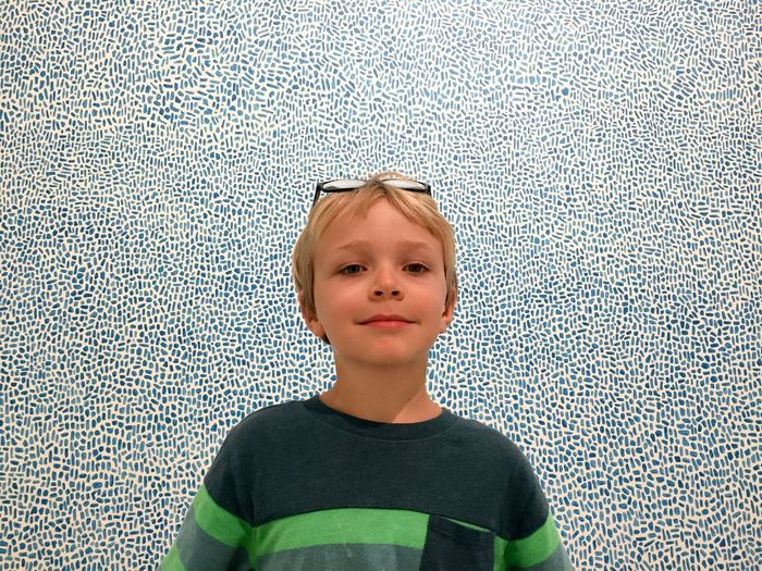 Child Portrait Pattern Close-up Indoors  Blond Hair Looking At Camera ArtWork Art Gallery Art, Drawing, Creativity Museum Sweden Lund Museum Of Sketches For Public Art