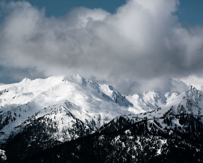 Olympic National Park Beauty In Nature Cloud - Sky Cold Temperature Day Landscape Majestic Mountain Mountain Range Nature No People Outdoors Range Scenics Sky Snow Snowcapped Mountain Tranquil Scene Tranquility Tree Weather Winter First Eyeem Photo