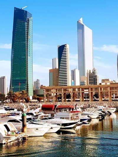 Arabian gulf , Kuwait Skyscraper Architecture City Urban Skyline Modern Building Exterior Cityscape An Eye For Travel