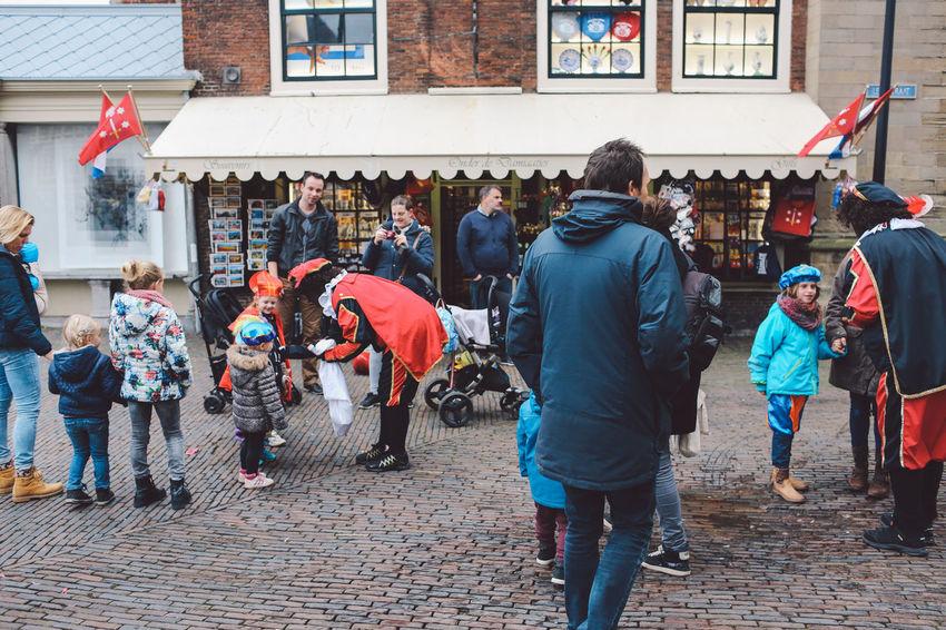 Day Festival Festival Season Full Length Grote Markt Large Group Of People Leisure Activity Men Netherlands Outdoors People Real People Rear View Saint Nicholas Sint-Nicolaas Sinterklaas Women Zwarte Piet