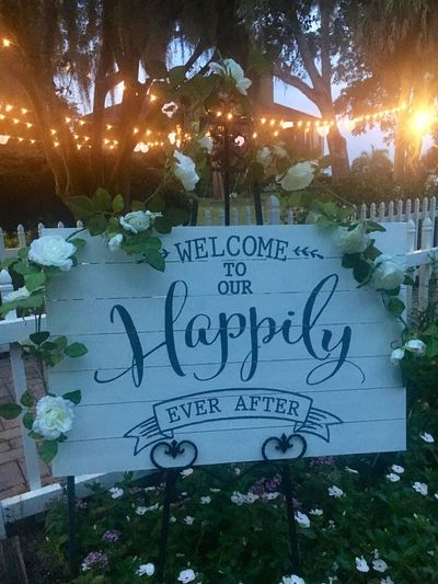 Wedding Photography Wedding Sign Romantic Landscape Evening Evening Light Southern Style Wedding